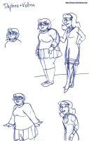 Daphne and Velma scribbles by brensey