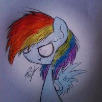 Filly rainbow dash by Ice-Dreams