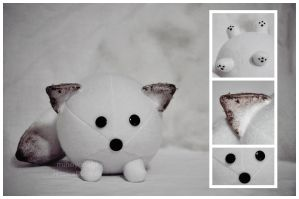 Arctic Fox Plush Ball by mihoyonagi