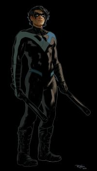Nightwing Character Illustration by NickRoblesArt