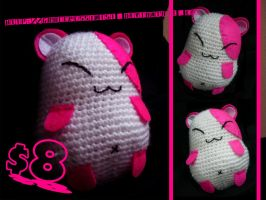 Crocheted Hamster for sale by GracePessimist