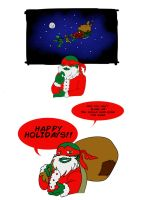 TMNT - Santa Raph is coming to town by RockingTheWorld