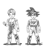 Trunks kun and Son Goten by GIO2286
