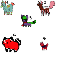 5 free/ponit Mixed adopts by TylerRaveDragon
