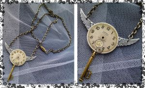 Steampunk Clock Pendant I by karla-chan