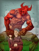 Portrait with Grandpa andSatan by Okoolarniq