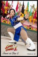 Chun Li in Temple by jnalye