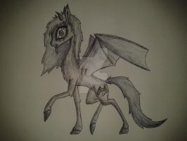 Demella being creepy, (my style) by demonicpegasus