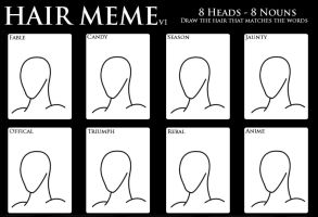 Hair Design Meme - Version 1 by SalmirAeon