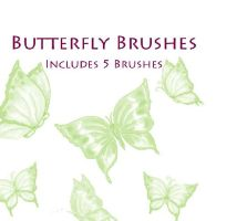 Butterfly Brushes by Lovegreen13