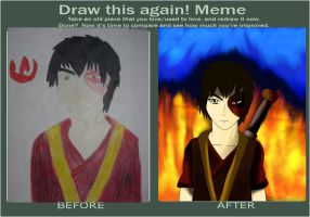 Zuko Draw This Again Meme by NeonCat22