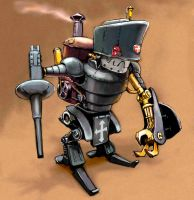 Steampunk Robot by TNT1971