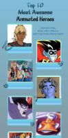 Top 10 best Cartoon heroes of the 90's by JefimusPrime