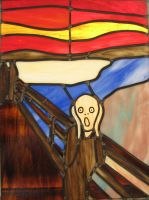 The Scream Stained Glass by AutobotWonko