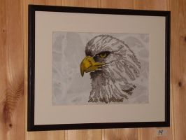 Eagle painting by LARvonCL
