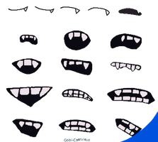 Free for use: South Park Fanged Mouth Template by Gobi-Caeruleus