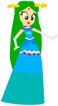 Cindertena in a royal ball dress by user15432