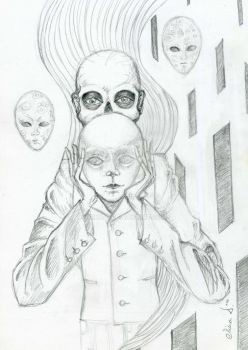 Under the Mask -pencil- by mina-D