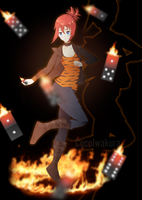 Special Commission-Roxy, flame dominoes by CocoIwakura