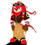 Knuckles the Echidna   Steampunk age by nuggetzisawesome