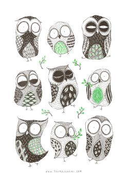 Spring Owls by TeemuJuhani