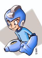 Megaman in colors by BezerroBizarro