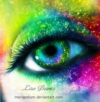 Rainbow eye by ziggy90lisa