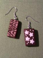 Earring with brioches fimo by bimbalove81