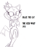 Blaze the Cat by TheIcedWolf