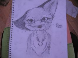 Fox Sketch by Emberheart23