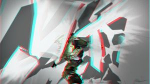 Spaceman anaglyph 3D by maximartiskosmo