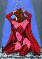 Scarlet witch in dungeon by gustorak