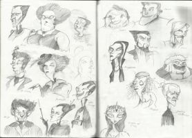 sketches of faces by KociGrzbiet