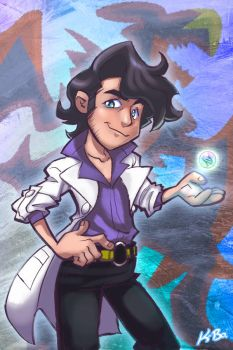 Professor Sycamore Pokemon X Y by kevinbolk