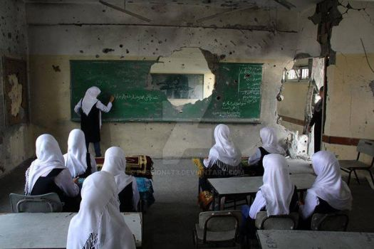 Gaza is back to school by P4ssion4t3
