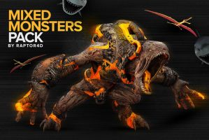 Mixed Monster Renders Pack by DesignerCandies