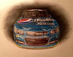 Jeff Gordon 2014 Pepsi Real Sugar Car by JonOwens