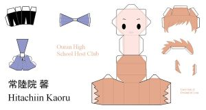 Ouran High School Host Club Papercraft - Kaoru by Larry-San