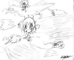 Aaron: Take to the sky sketch by Armonsterz