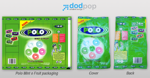 packaging polo mint o fruit by dodpop