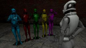 Multicolored Female Assassins. by Solidfreak123
