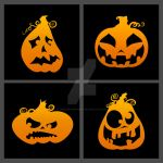 Pumpkin Faces by thedustyphoenix