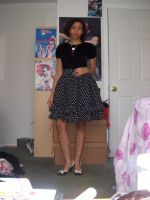 Polka dot Skirt by jely-claris-anne