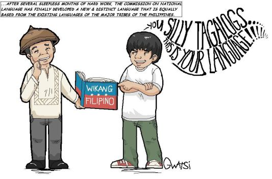 The Filipino Language by Gwatsinanggo