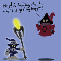 Veigar and Orco by SamKablam