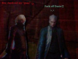Dante ''bother'' Vergil by cellamare