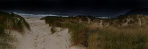 Manzanita Beach Panorama by xsiorcanna