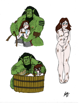 Orc Girl Chapter 3 Sketches by PrinceRose
