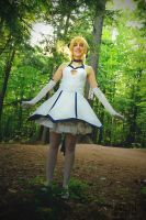 Saber-lily 10th anniversary 10 - Smiling Saber by simakai