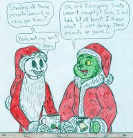 Xmas - The Grinch and Jack Skellington by Jose-Ramiro